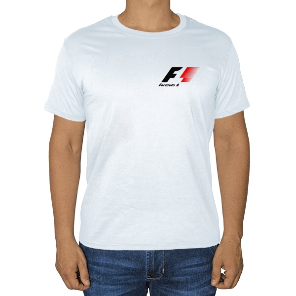 Белая футболка Логотип Формулы-1
