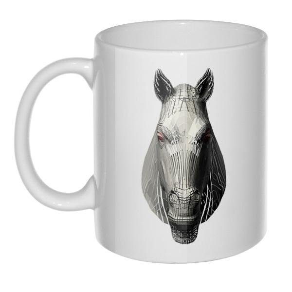 Кружка Полигональная лошадь