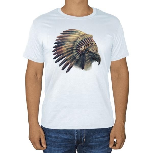 Орел-индеец, белая футболка