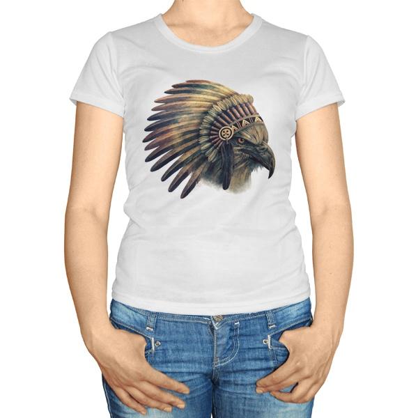 Женская футболка Орел-индеец