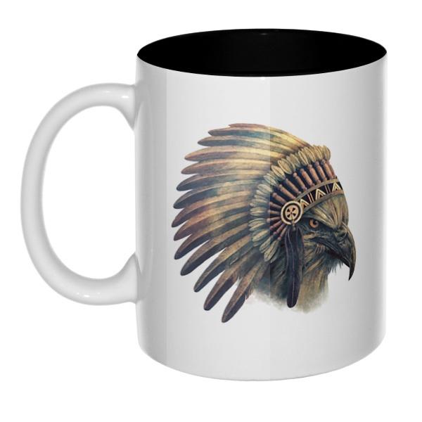 Орел-индеец, кружка цветная внутри