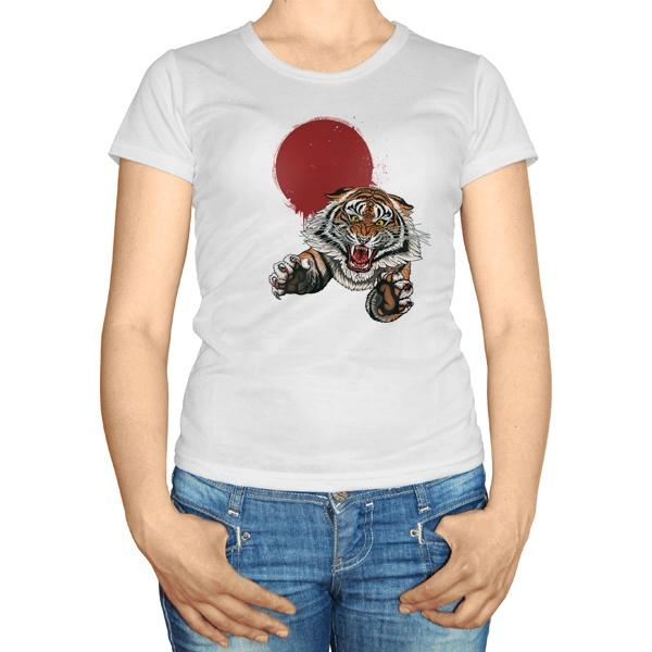 Женская футболка Свирепый тигр