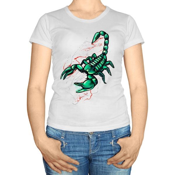 Женская футболка Рисунок скорпиона