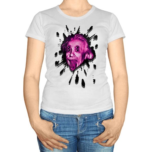 Женская футболка Клякса Эйнштейн