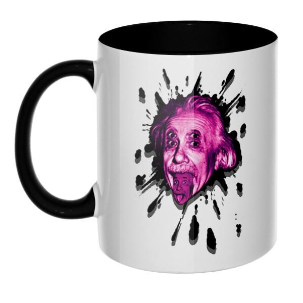 Клякса Эйнштейн, кружка цветная внутри и ручка