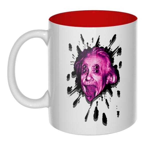 Клякса Эйнштейн, кружка цветная внутри
