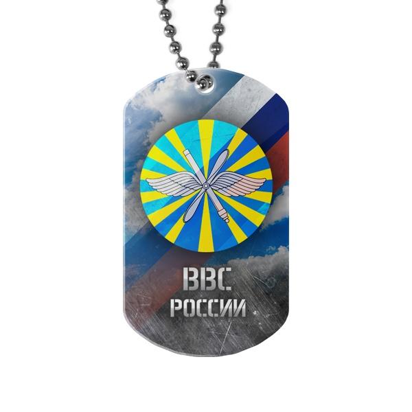Жетон с лого ВВС России, цвет белый