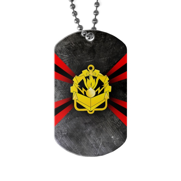 Жетон армейский Инженерные войска России, цвет белый