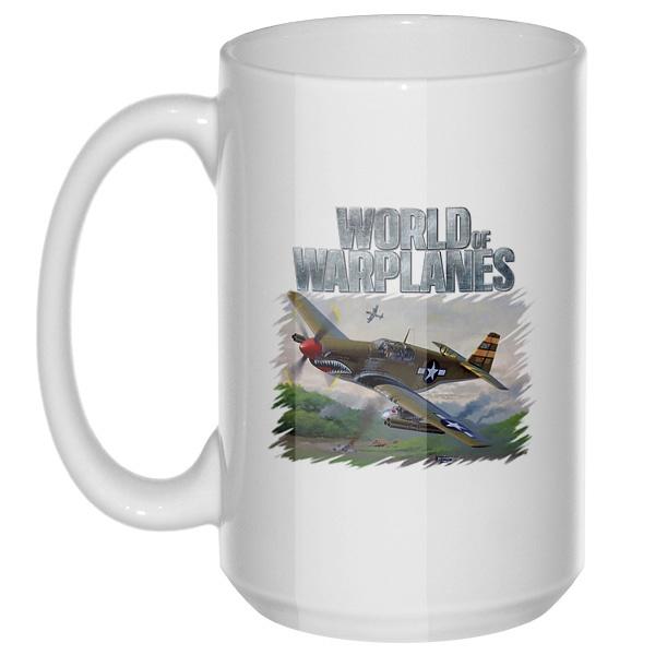 World of Warplanes, большая кружка с круглой ручкой