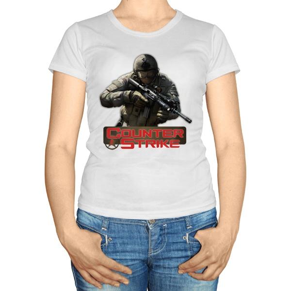 Женская футболка CS, цвет белый