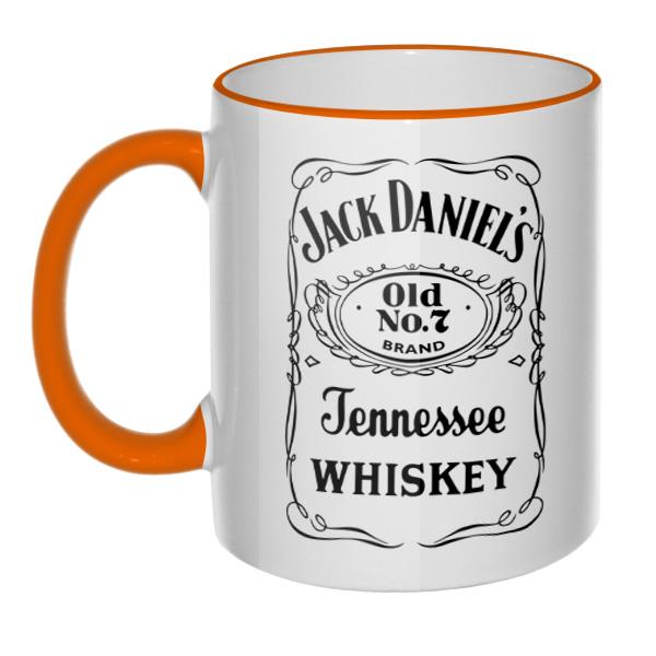 Кружка Jack Daniel's (цветной ободок и ручка)