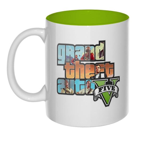 Grand Theft Auto V, кружка цветная внутри