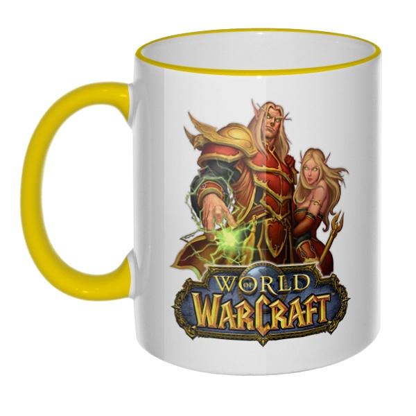 Кружка World of Warcraft с цветным ободком и ручкой