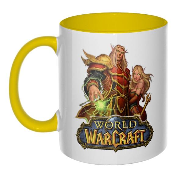 World of Warcraft, кружка цветная внутри и ручка