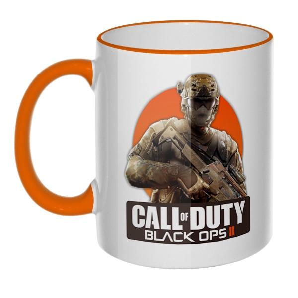 Кружка Call of Duty с цветным ободком и ручкой
