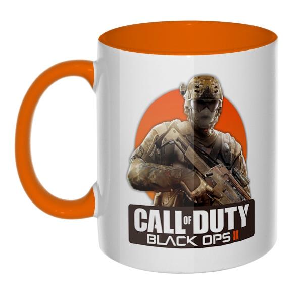 Call of Duty, кружка цветная внутри и ручка