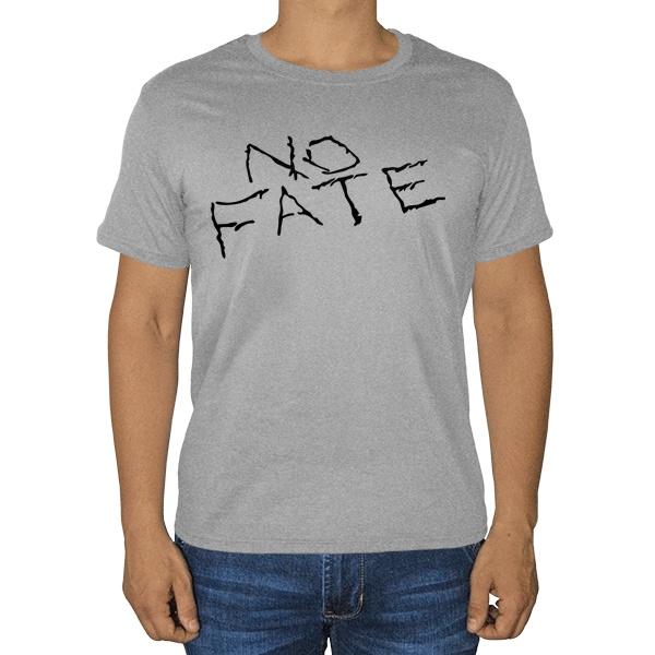 No Fate, серая футболка (меланж)