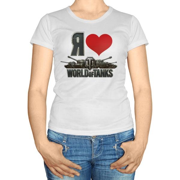 Женская футболка Я ♥ World of Tanks