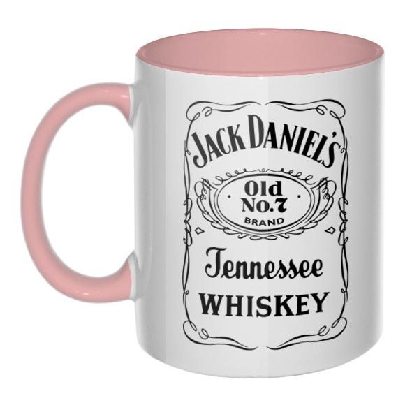 Кружка Jack Daniel's (цветная внутри и ручка)