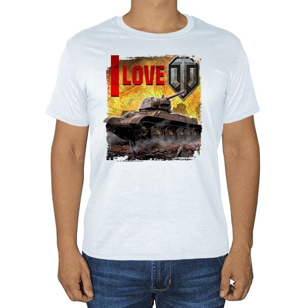 I love WoT, белая футболка