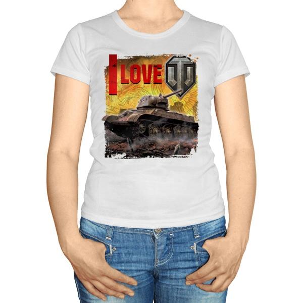 Женская футболка I love WoT