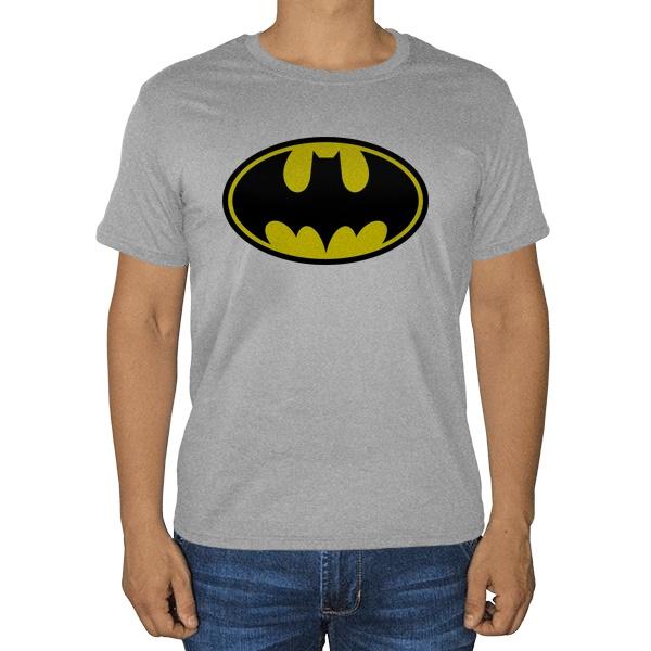 Бэтмэн, серая футболка (меланж)