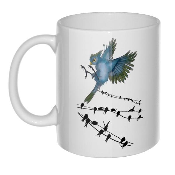 Кружка Птицы как ноты