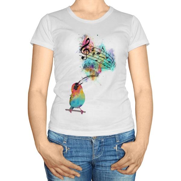 Женская футболка Птица поет