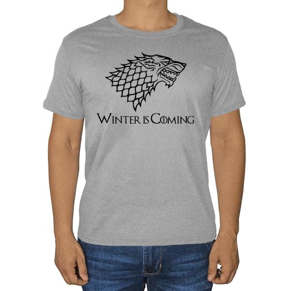 Игра престолов, серая футболка (меланж), цвет серый меланж