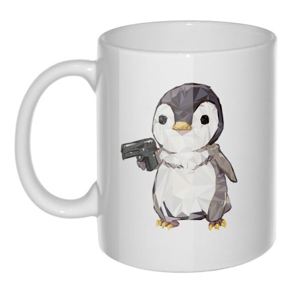 Кружка Пингвин с пистолетом