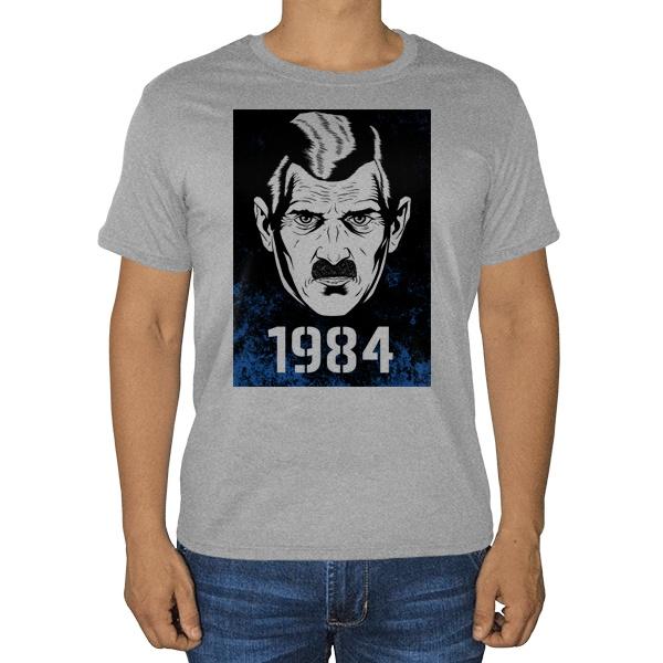 1984, серая футболка (меланж)