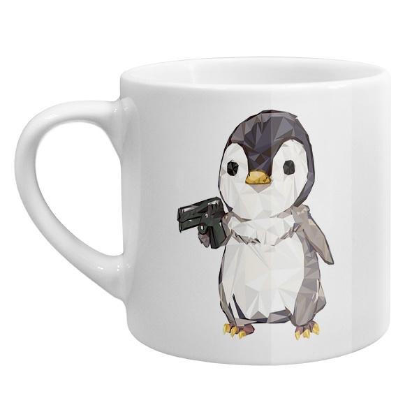 Кофейная чашка Пингвин с пистолетом