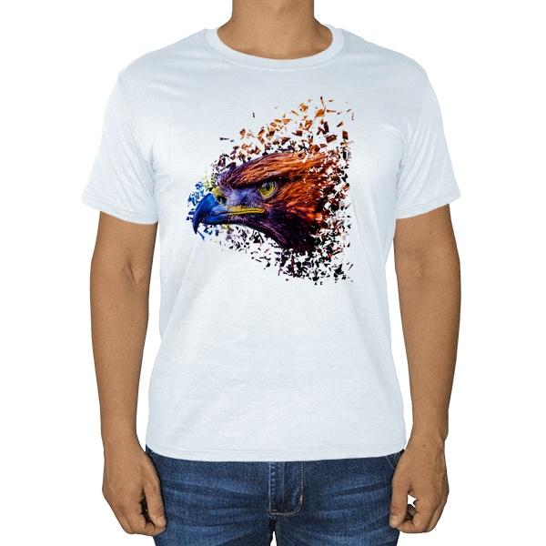 Хищный орел, белая футболка