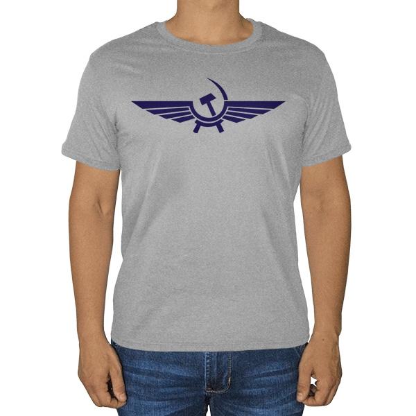 Аэрофлот СССР, серая футболка (меланж)