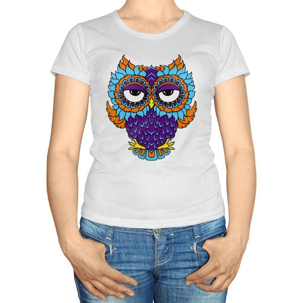 Женская футболка Яркая сова