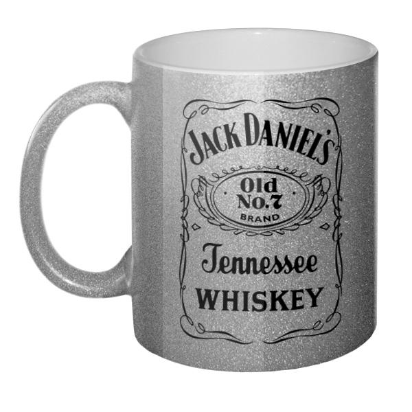 Серебристая кружка Jack Daniel's, цвет серебристый