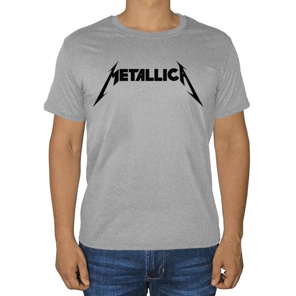 Металлика, серая футболка (меланж)