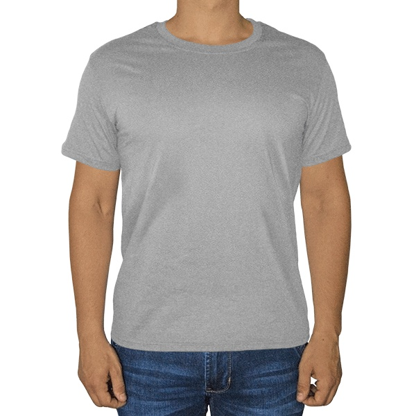Без принта, серая футболка (меланж)