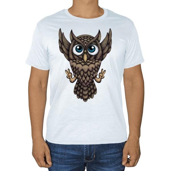 Owl, белая футболка