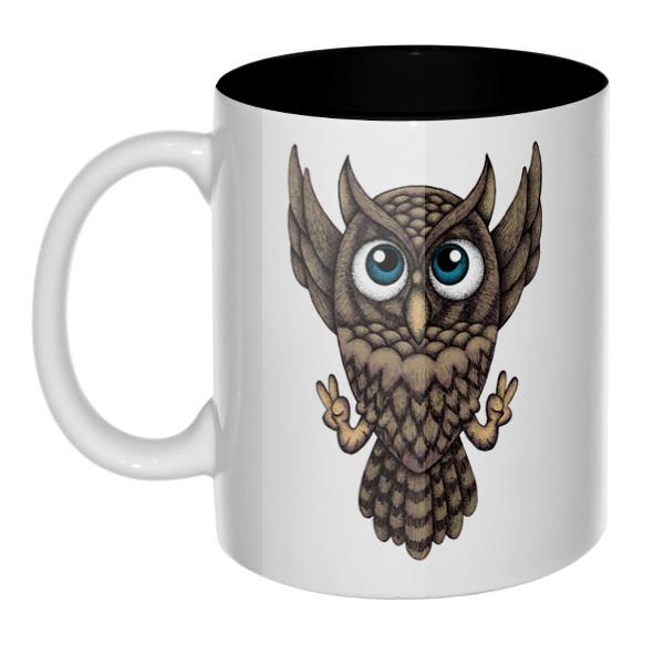Owl, кружка цветная внутри