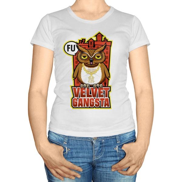 Женская футболка Velvet gangsta