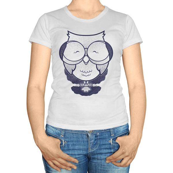 Женская футболка Сова в очках