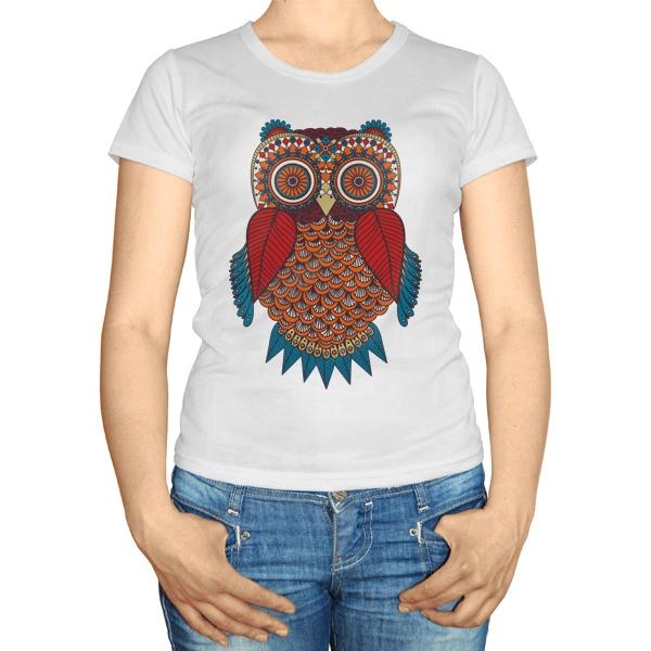 Женская футболка Орнамент Сова
