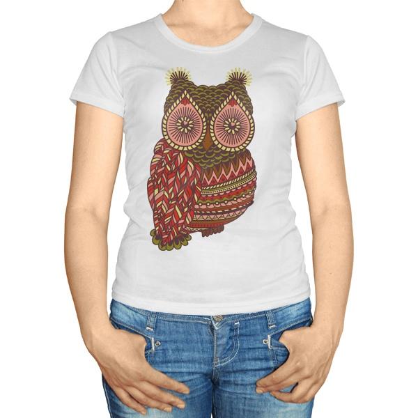 Женская футболка Рисунок совы
