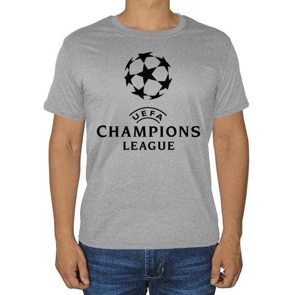 Лига чемпионов УЕФА, серая футболка (меланж)