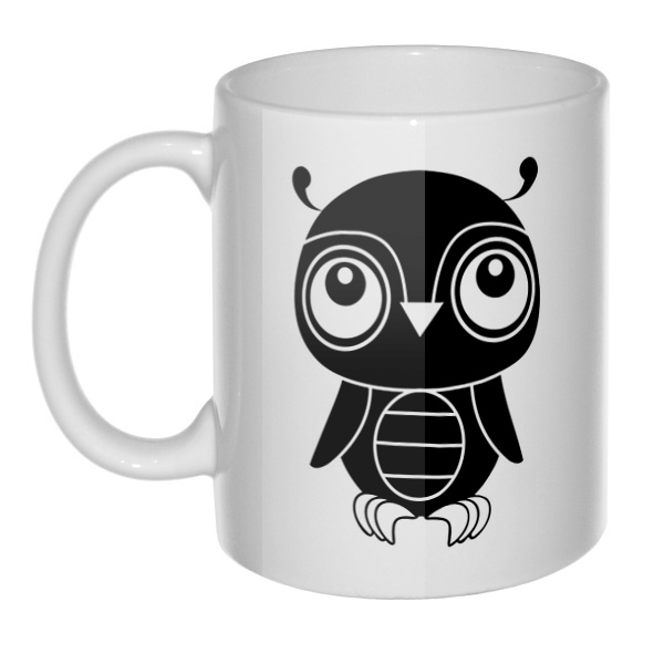 Кружка Черно-белый совенок