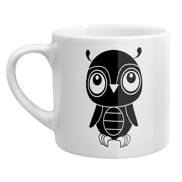 Кофейная чашка Черно-белый совенок