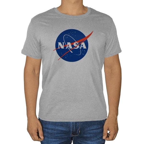 НАСА, серая футболка (меланж)
