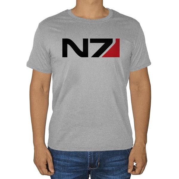 N7, серая футболка (меланж)
