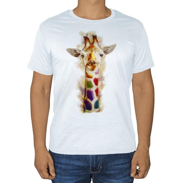 Жираф, белая футболка, цвет белый